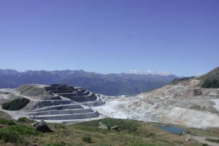 Talc quarry Ariege Pyrenees